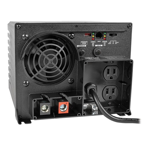 750W PowerVerter APS 12VDC 120V Inverter Charger Auto Transfer Switching 2 Outlets