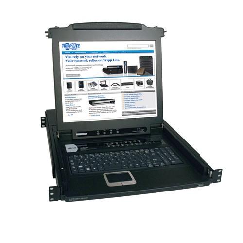 NetDirector 16 Port 1U Rack Mount Console KVM Switch 17 in LCD