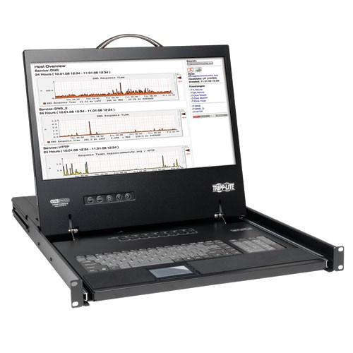 NetController 16 Port 1U Rack Mount Console KVM Switch 19 in LCD