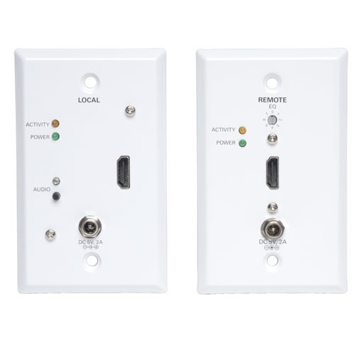 HDMI Over Cat5 Cat6 Extender Extended Range Wall Plate Tansmitter Receiver Video Audio 1920x1200 1080p 60Hz