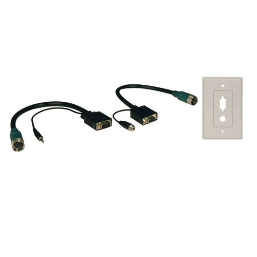 Easy Pull Type A Connectors Male Female VGA with Audio Faceplate