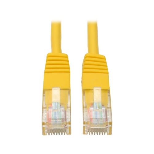 Cat5e Molded Patch Cable 350MHz RJ45 Male Yellow 3 ft