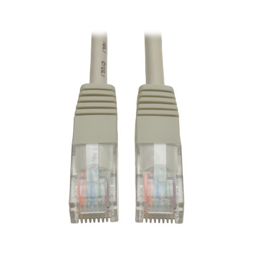 Cat5e Molded Patch Cable 350MHz RJ45 Male Gray 100 ft