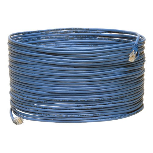 Cat5e 350MHz Plenum Rated Patch Cable Snagless RJ45 Male Blue 75 ft