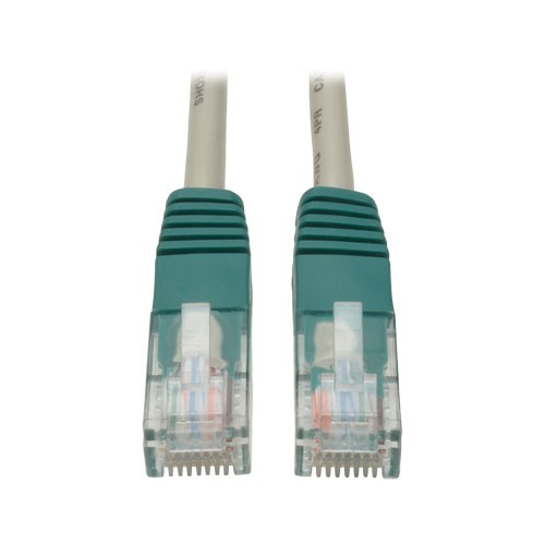 Cat5e Molded Cross over Patch Cable 350MHz RJ45 Male Gray 7 ft