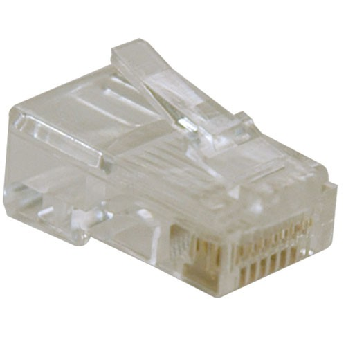 RJ45 Plugs Solid Stranded Conductor 4 pair Cat5e Cable 10 Pack