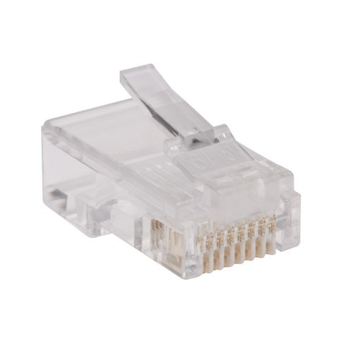 RJ45 Plugs for Flat Solid Stranded Conductor 4 pair Cat5e Cable 100 Pack