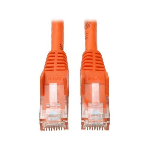 Cat6 Gigabit Snagless Molded Patch Cable RJ45 Male Male Orange 5 ft