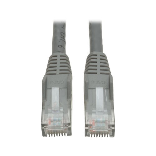 Cat6 Gigabit Snagless Molded Patch Cable RJ45 Male Gray 6 ft