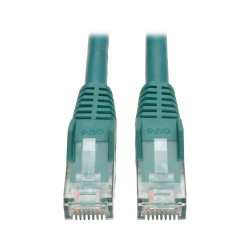 Cat6 Gigabit Snagless Molded Patch Cable RJ45 Male Green 10 ft