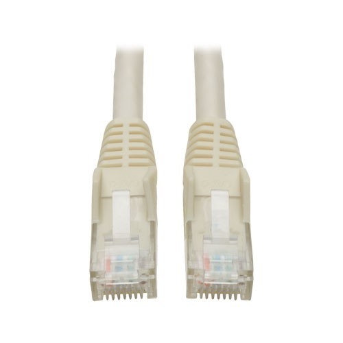 Cat6 Gigabit Snagless Molded Patch Cable RJ45 Male White 15 ft
