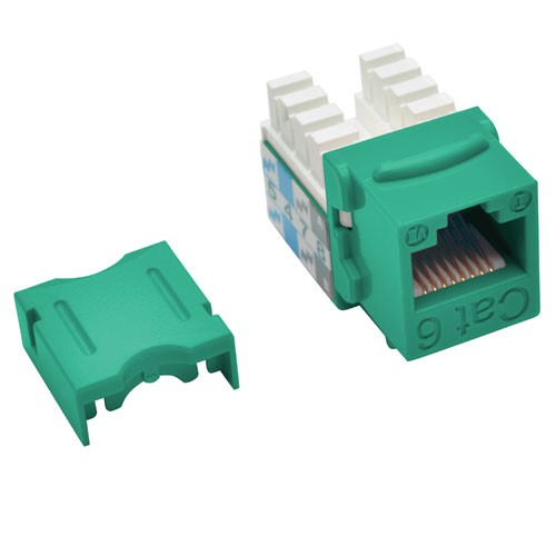Cat6 Cat5e 110 Style Punch Down Keystone Jack Green