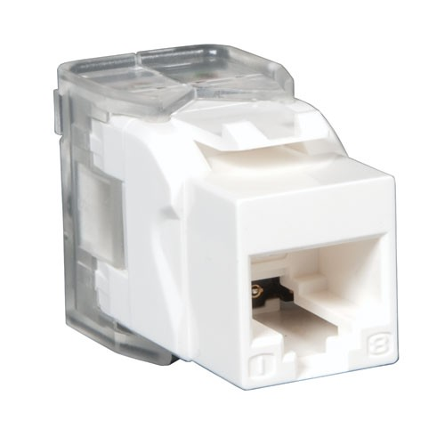 Cat6 Cat5e 110 Style Punch Down Keystone Jack Toolless White