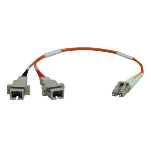 Duplex Multimode 50 125 Fiber Adapter LC SC Male Female 0.3M 1 ft