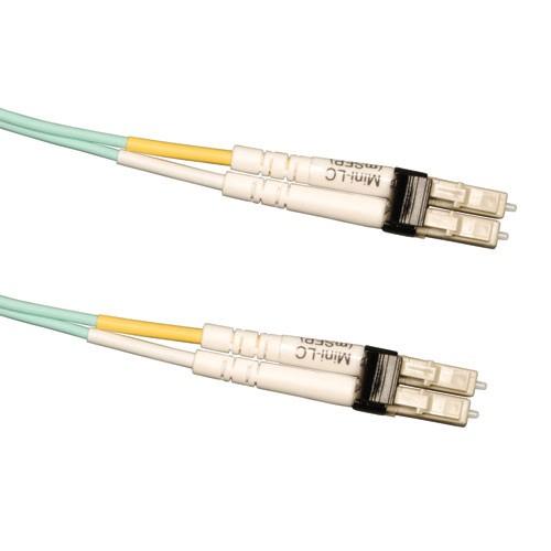 10Gb Multimode OM3 LSZH Fiber Patch Cable 50 125 Mini LC Mini LC Aqua 2M 6 ft
