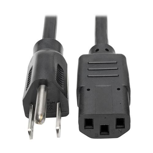 Universal Computer Power Cord 10A 18AWG NEMA 5 15P IEC 320 C13 6 ft