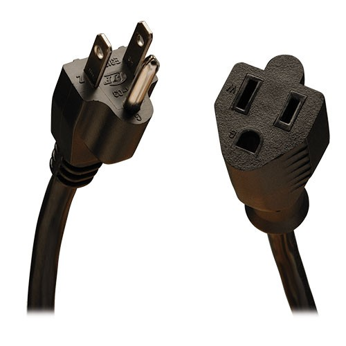 Power Cord Extension 10A 18AWG 10 Feet