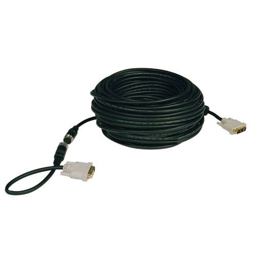 DVI Single Link Digital TMDS Monitor Easy Pull Cable DVI D Male 50 ft
