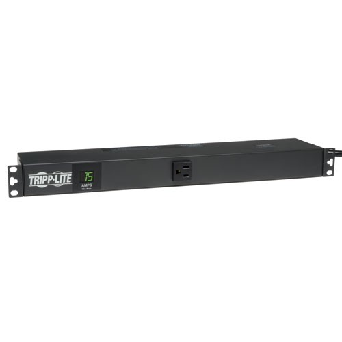 1.4kW Single Phase Metered PDU 120V Outlets 13 5 15R 5 15P 100 127V Input 15ft Cord 1U Rack Mount