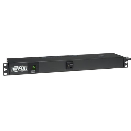 1.4kW Single Phase Metered PDU 120V Outlets 13 5 15R 5 15P 100 127V input 6ft Cord 1U Rack Mount
