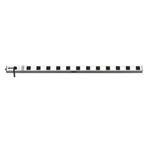 12 Outlet Vertical Power Strip 120V 15A 15 ft Cord 5 15P 36 in