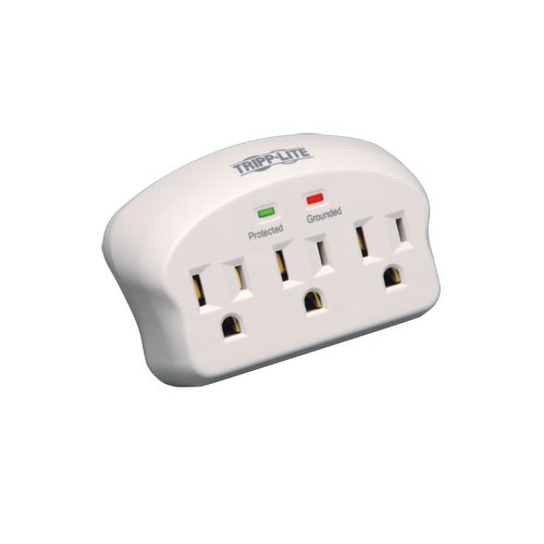 Protect It 3 Outlet Surge Protector Direct Plug In 660 Joules 2 Diagnostic LEDs