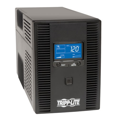 SmartPro LCD 120V 1300VA 720W Line Interactive UPS AVR Tower LCD USB 8 Outlets