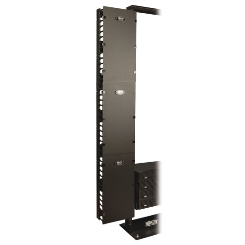 SmartRack 12 in Width High Capacity Vertical Cable Manager Double finger duct cover