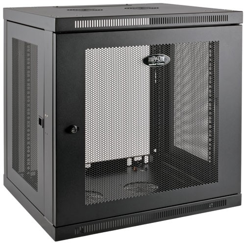 SmartRack 12U Low Profile Switch Depth Plus Wall Mount Rack Enclosure Cabinet