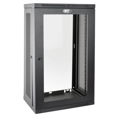 SmartRack 21U Low Profile Switch Depth Wall Mount Rack Enclosure Cabinet Clear Acrylic Window