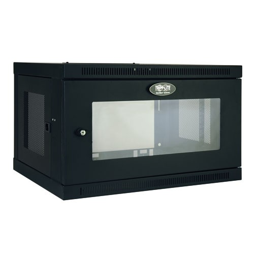SmartRack 6U Low Profile Switch Depth Wall Mount Rack Enclosure Cabinet Clear Acrylic Window