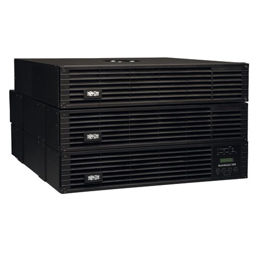 SmartOnline 208 240 120V 6kVA 5.4kW Double Conversion UPS 6U Rack Tower Extended Run SNMPWEBCARD Option USB DB9 Serial Bypass Switch Outlets