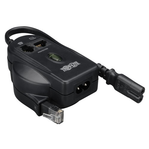 Protect It 2 Connector C8 2 Prong In Line Surge Protector 306 Joules Tel Ethernet Protection