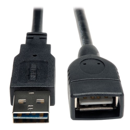 Universal Reversible USB 2.0 High Speed Extension Cable Reversible A to A Male Female 6 ft