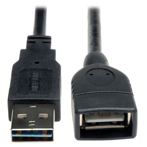 Universal Reversible USB 2.0 High Speed Extension Cable Reversible A to A 6 inch