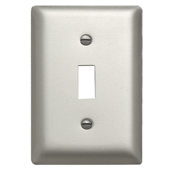 Aluminum Single Gang Toggle Wall Plate, SA1