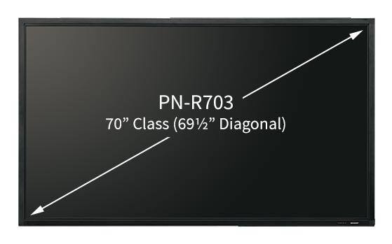 Sharp Electronics PN-R706 Professional LED Display