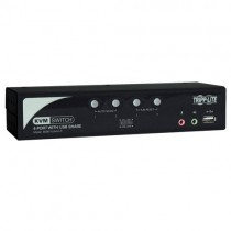 4 Port KVM Switch Audio OSD Peripheral Sharing