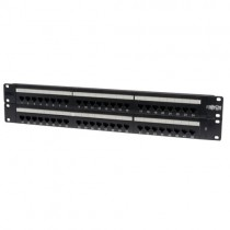 48 Port 2U Rack Mount Cat5e 110 Patch Panel 568B RJ45 Ethernet