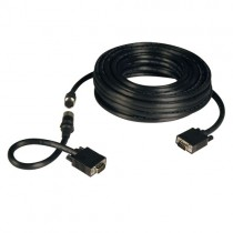 VGA Coax Easy Pull Monitor Cable High Resolution Cable RGB Coax HD15 Male Male 50 ft