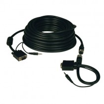 High Resolution SVGA VGA Monitor Easy Pull Cable Audio RGB Coax HD15 Male 50 ft