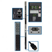 14.5kW 3 Phase Monitored PDU 200 208 240V Outlets 42 C13 6 C19 Hubbell 50A CS8365C 10ft Cord 0U Vertical TAA