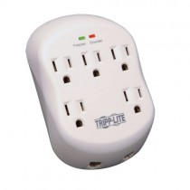 Protect It 5 Outlet Surge Protector Direct Plug In 1080 Joules 1 Line RJ11 Protection