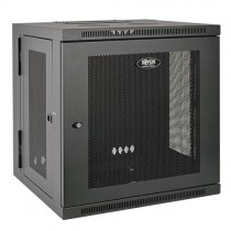 SmartRack 12U Low Profile Switch Depth Wall Mount Rack Enclosure Cabinet Hinged Back