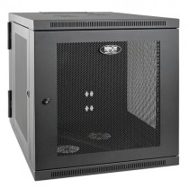 SmartRack 12U Server Depth Wall Mount Rack Enclosure Cabinet Hinged Back