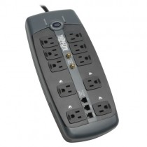 Protect It 10 Outlet Surge Protector 8 ft Cord 3345 Joules Tel Modem Coaxial Protection