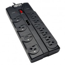 Protect It 12 Outlet Surge Protector 8 ft Cord 2160 Joules Tel Modem Protection