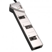 Protect It 7 Outlet Surge Protector 7 ft Cord 1080 Joules Tel Modem Protection Silver Housing